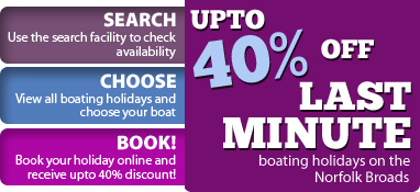 40% off last minute boat hire